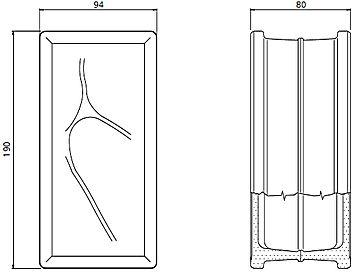 Mattoni vetrocemento dimensioni